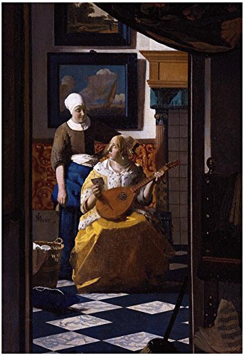 Johannes Vermeer The Love Letter Art Print Poster 13 x 19in
