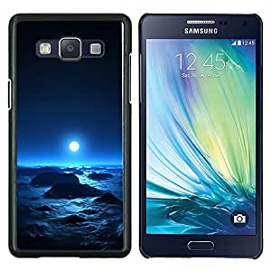 YiPhone /// Prima de resorte delgada de la cubierta del caso de Shell Armor - Luna azul brillante planeta extranjero Espacio Cosmos - Samsung Galaxy A5 A5000