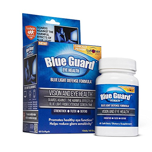 Vision Guard (Blue Guard Blue Light Defense Supplements - 60 Count Softgels, Limited Time Only Promotional Price Enhanced Eye Health, Clinically Proven, Increases Macular Pigment Density, Reduces Glare Sensitivity)
