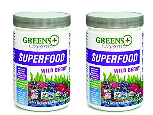 Pack of 2 Greens Plus Organics Wild Berry Super-Food Bundled by Maven Gifts