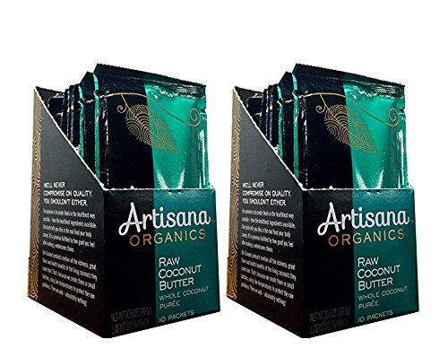 Artisana Organics - Coconut Butter, Whole Coconut Puree, Single Ingredient Handmade Rich & Thick Spread, USDA & QAI Organic Certified, Non-GMO, Vegan & Gluten Free (Two 10-Packs, 1.06 oz)