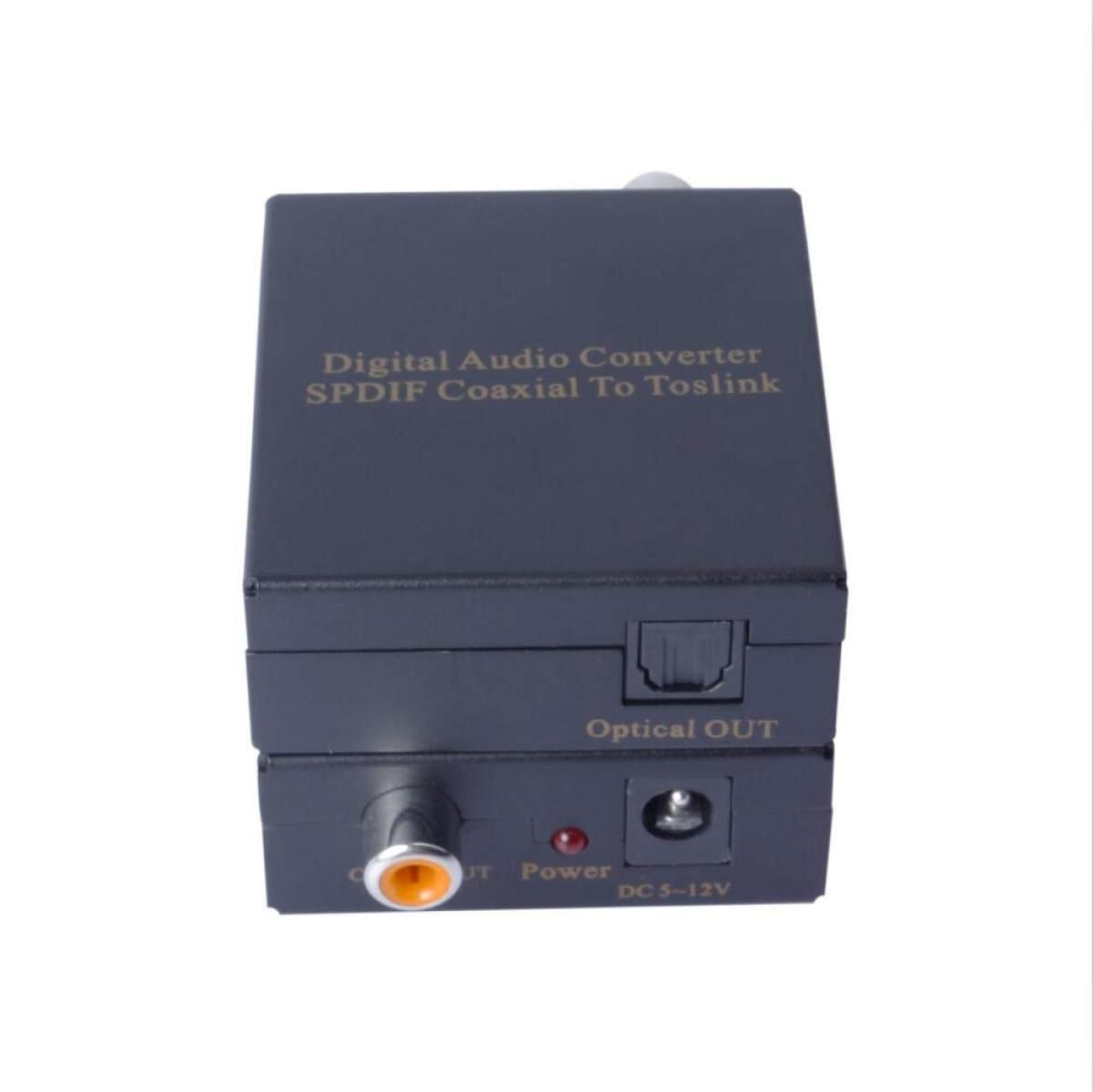 WenL Digital Audio Converter SPDIF / Toslink A Coaxial Apoya 5.1 DTS PCM,Black1: Amazon.es: Deportes y aire libre