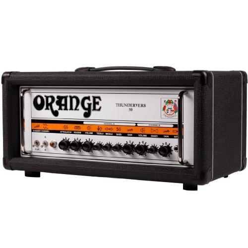 Orange Thunderverb 50 - Orange Amplifiers Thunderverb 50 Series TH50HTC 50W Tube Guitar Amp Head Black