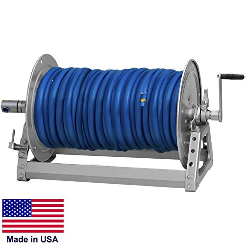 Pressure Washer & Sprayer Manual Hose Reel - 500 Ft 3/8'' or 375 Ft 1/2'' Id Hose