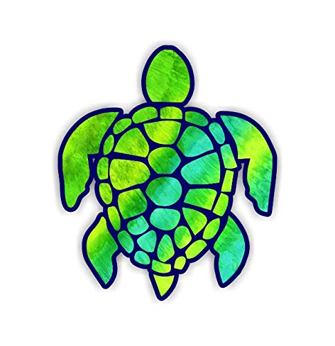- Vinyl Junkie Graphics 3 inch Sea Turtle Sticker for Laptops CupsTumblers Cars and Trucks Any Smooth Surface (Green-Yellow)