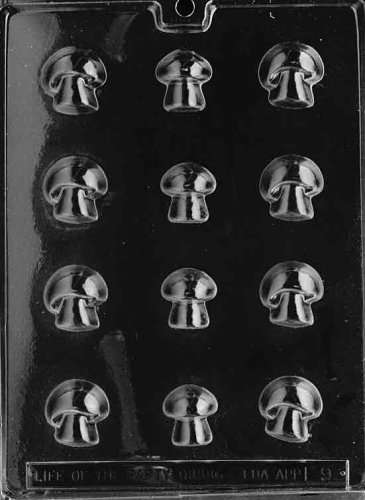 Cybrtrayd Life of the Party F009 Mushrooms Vegetables Chocolate Candy Mold in Sealed Protective Poly Bag Imprinted with Copyrighted Cybrtrayd Molding Instructions