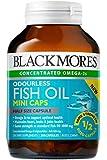 ブラックモアズ社 魚のにおいのしないフィッシュオイル ミニカプセル 200カプセル 【海外直送品】
