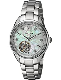 Women's Automatic Stainless Steel Casual Watch, Color Silver-Toned (Model: 96P181)