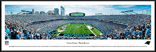 (Carolina Panthers - 40.25x13.75-inch Standard Framed Picture by Blakeway Panoramas)