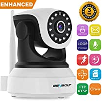 Wireless WiFi Dog Camera - GENBOLT IP Security Pet Camera indoor for Home Surveillance, Day Night Vision Pan Tilt Two Way Audio Motion Detection Remote Webcam, Baby Monitor Including 40 Feet Night Vision, Instant Picture Email Message Push Alert, 128GB Storage(Max Support), 3dBi Antenna, 355 Degree View Angle, 2 Megapixel Lens, Heavy-Duty Housing, 1000+ Instagram Likes, 24-Hour Customer Support, 30-Day Money Back Guaranteed, 2-Year Warranty
