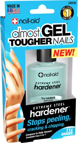 NAIL-AID Steel Instant Hardener, Clear, 0.55 Fluid Ounce (Best Nail Hardener For Peeling Nails)
