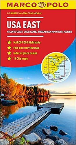 USA East Marco Polo Map (Marco Polo Maps): Amazon.co.uk: Marco Polo ...