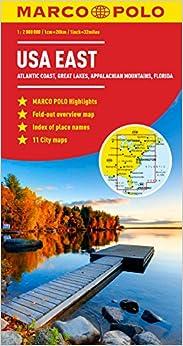 USA East Marco Polo Map Marco Polo Maps Amazoncouk Marco - Usa map east