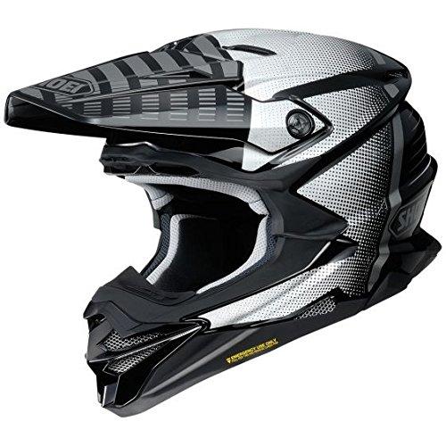 Orange Cycle Parts Full Face Dirt Bike Off-Road MX Motocross Helmet by Shoei VFX-EVO (Large, Blazon TC-5, Black White Grey)