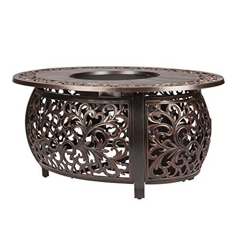 - Fire Sense 62198 Toulon Oval Fire Pit, Antique Bronze