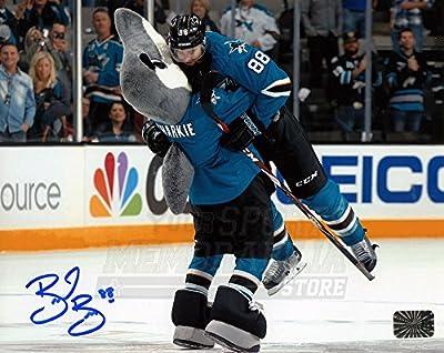 Brent Burns San Jose Sharks Signed Autographed Sharkie Hug Celebration 8x10