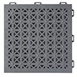 Greatmats StayLock Perforated Floor Tile 26 Pack (Gray)