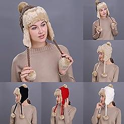 Voberry Women Winter Peruvian Beanie Hat...