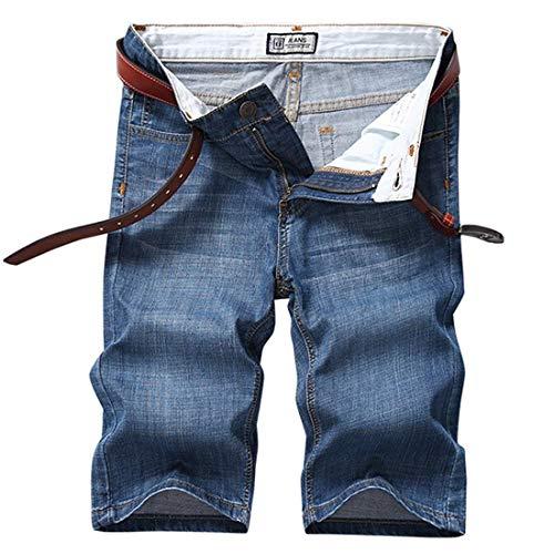Pantalones Cortos De Mezclilla De Los Cortos Hombres Pantalones De Ropa Verano Pantalones Cortos De Moda Jeansshort De Los Hombres Ocasionales Flojos Bermudas Sin Pretina Hellblau1