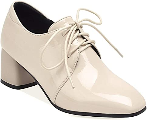 Women Oxford Brogues Lace Up Flat Heels Pumps Pointed Toe Casual Shoes Plus Size
