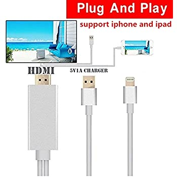 iphone to hdmi. cable hdmi tv iphone 4: amazon.com: lightning to hdmihdmi for o