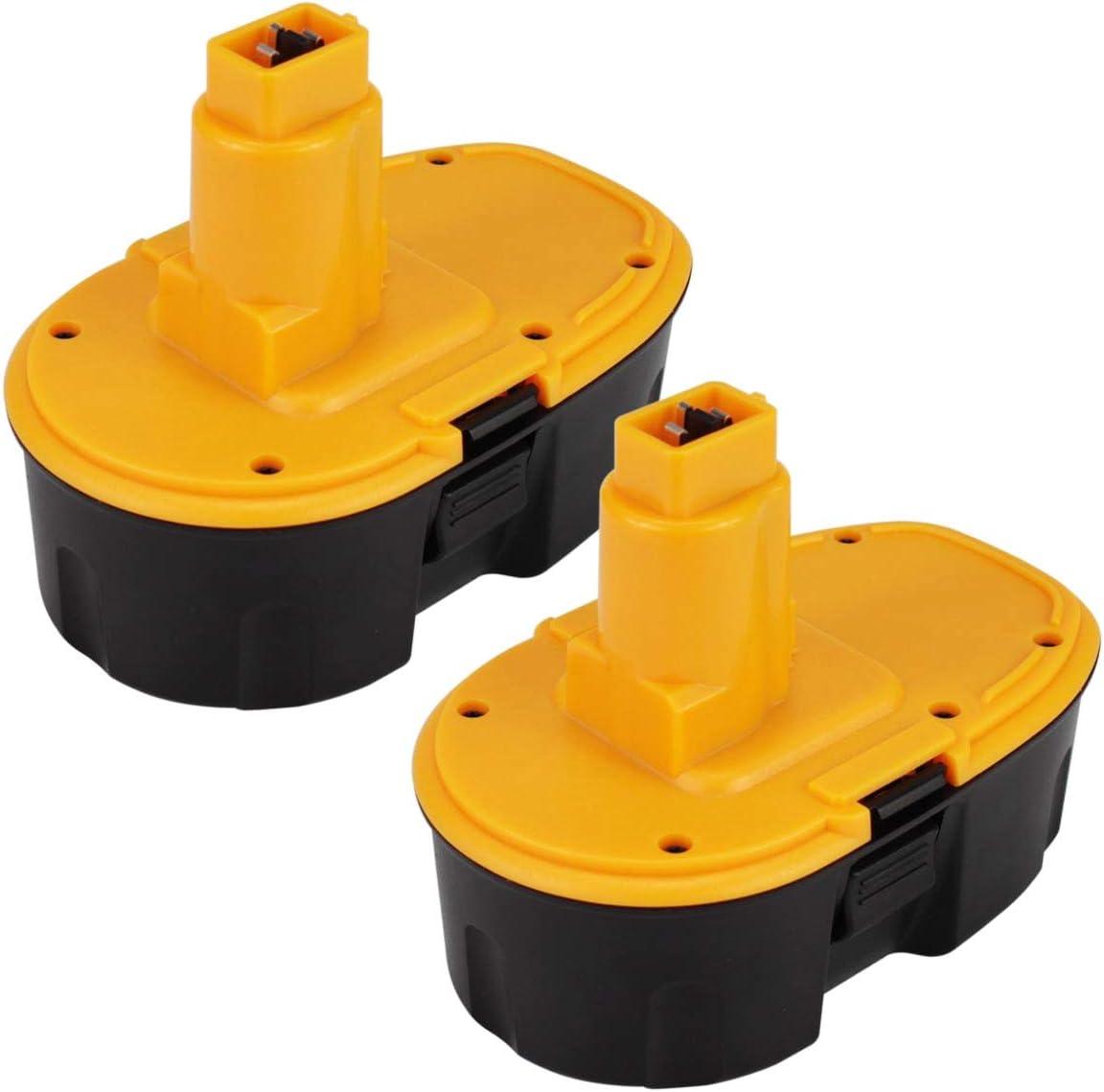 Topbatt 2Piezas 18V 3.0Ah Ni-MH para Dewalt Bater/ía de Reemplazo DC9096 DC9098 DE9039 DE9095 DE9096 DE9098 DE9503 DW9095 DW9096 DW9098 DC725 Taladro inal/ámbrico Amarillo