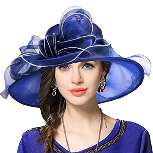 VECRY Women Kentucky Derby Hat Wide Brim Cocktail Tea Party Bridal Dress Church Hat