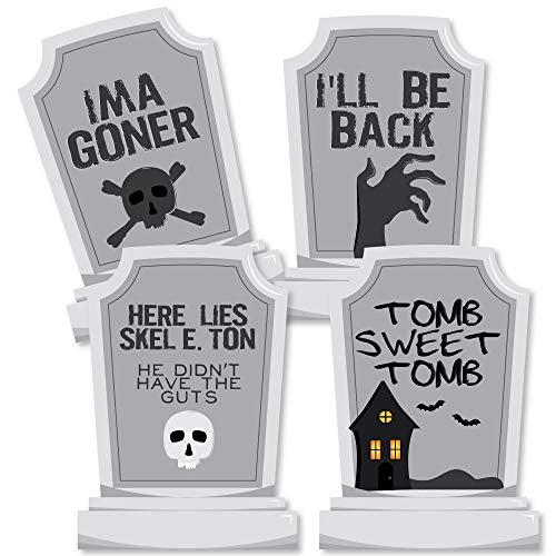 Graveyard Tombstones - Decorations DIY Halloween Party Essentials - Set of -