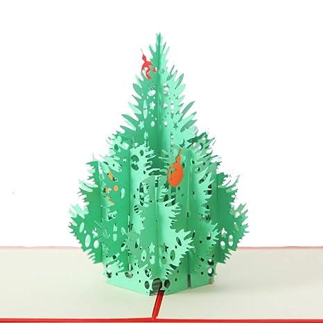 Feliz árbol de navidad Tarjeta 3D Tarjetas de felicitación ...
