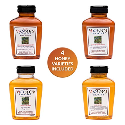 (Natural Unprocessed Raw Honey - Pure Unfiltered Sage - California Honey - Squeeze Bottle - Pack of 4-12 Ounce by Honey)