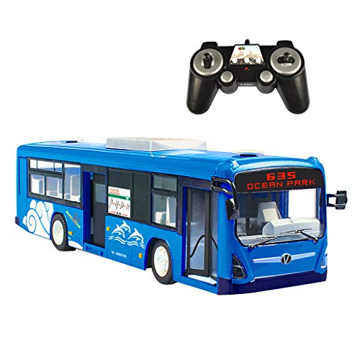 Flameer 1/12 Remote Control City Bus Kids RC Vehicles Toy with 2.4Ghz Transmitter