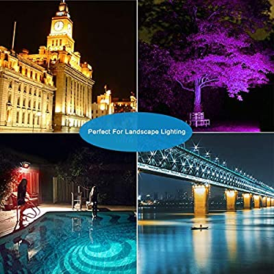 Ankishi 2 Pack 30W RGB LED Flood Lights with Remote Control, 16 Colors 4 Modes RGB Flood Light, IP66 Waterproof Dimmable Color Changing LED Flood Light for Indoor Outdoor Decorative Garden Landscape