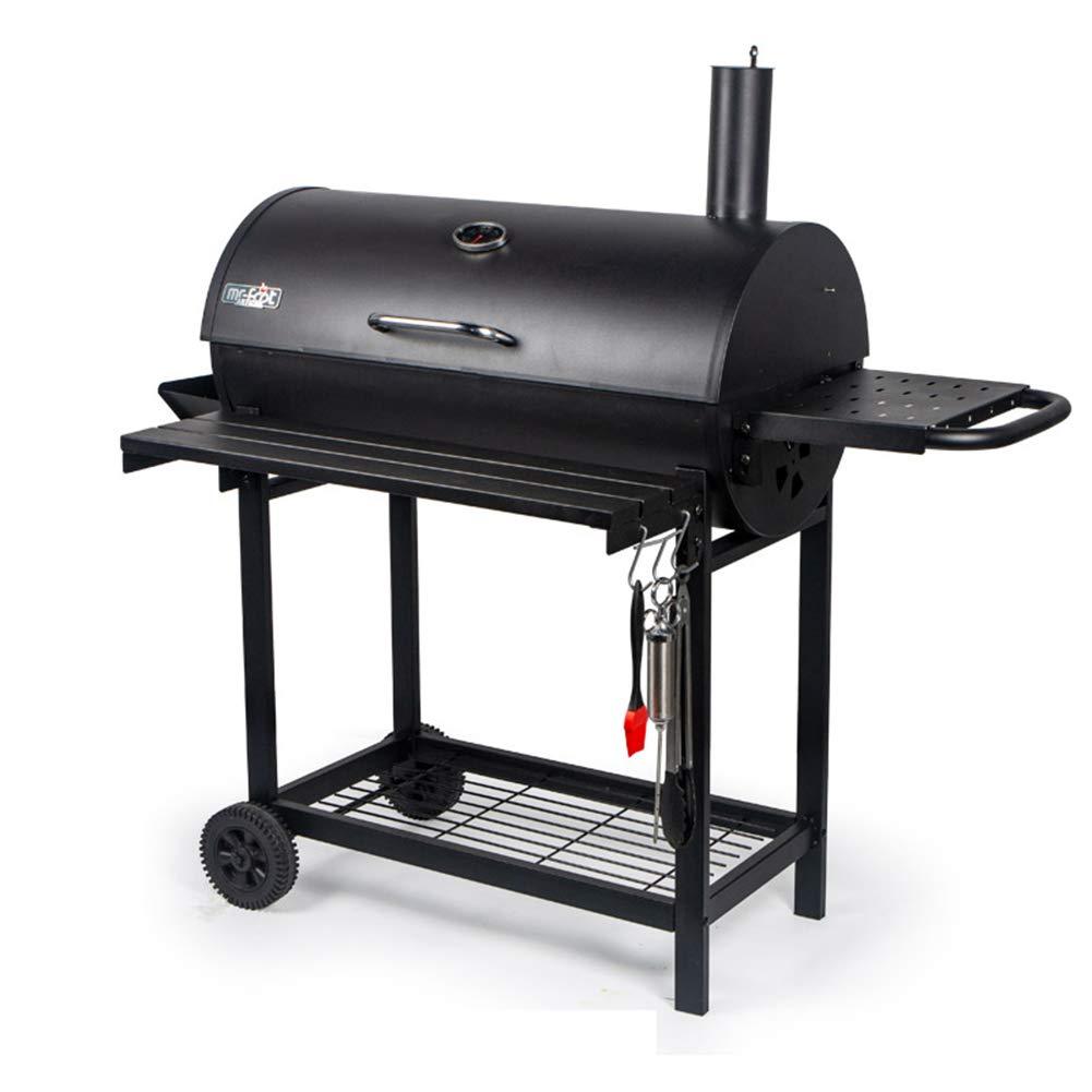 バーベキューグリル木炭バーベキューグリル屋外ピットパティオ裏庭ホーム肉炊事喫煙者屋外用キャンプ   B07R4CC32H