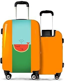 Valise CALIBAG (Format Cabine) Baleine pastèque Orange