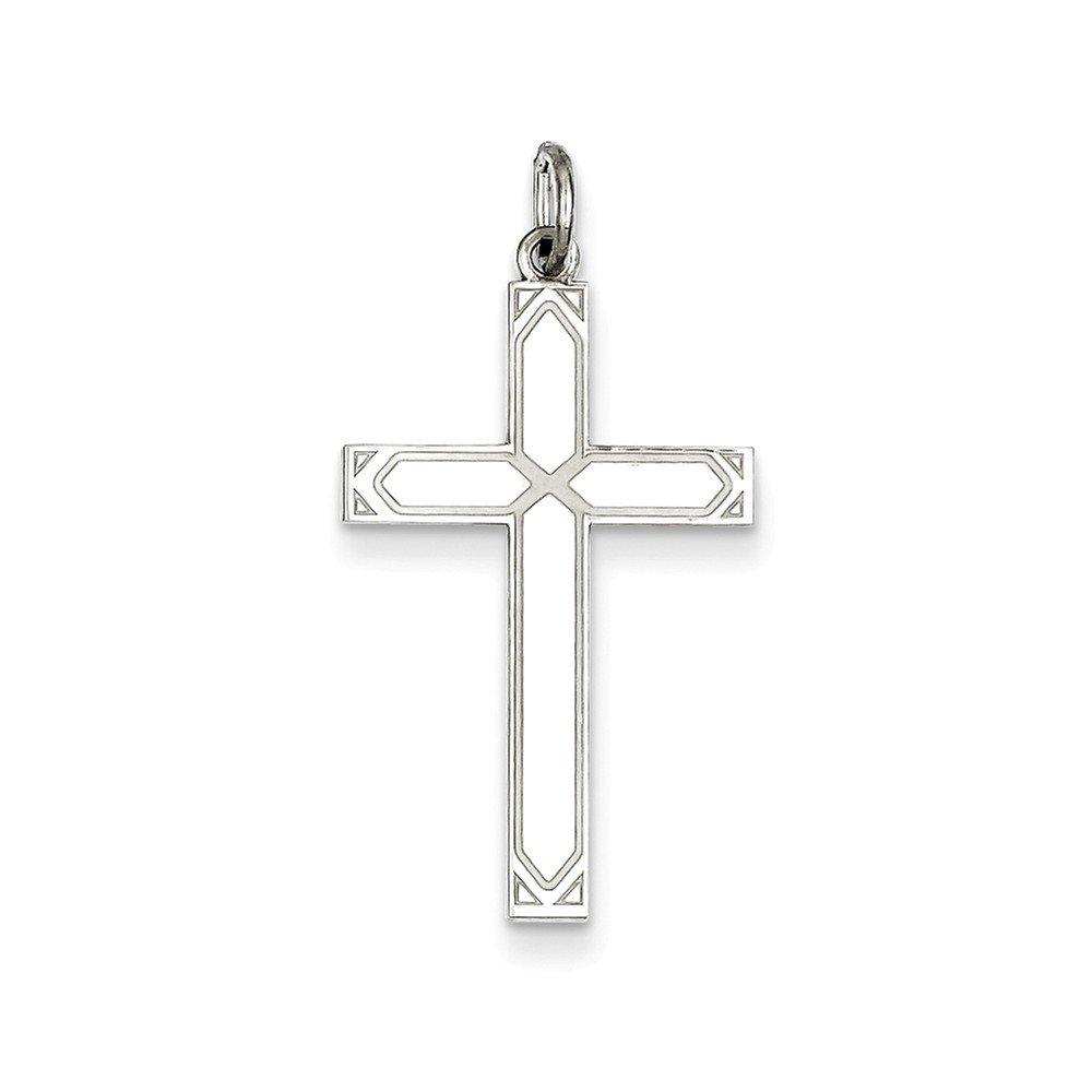 Goldia Sterling Silver Laser Designed Cross Pendant
