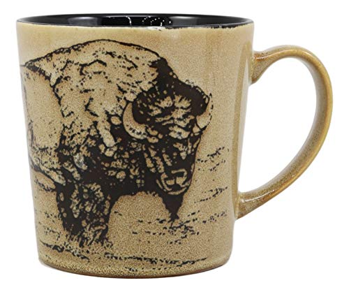 - Ebros Sacred Lightning American Buffalo Bison Drinking Beverage Ceramic Mug 16oz Drink Coffee Cup Glazed Earthenware Kitchen And Dining Accessory Decor For Bisons Buffaloes Wildlife Grazing Animals