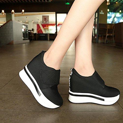 Ponerse Zapatos Zapatos Botines mujer individuales de Plataforma Corriendo Moda Sneakers mujer Deportes Porciones de Tac URqUAfa