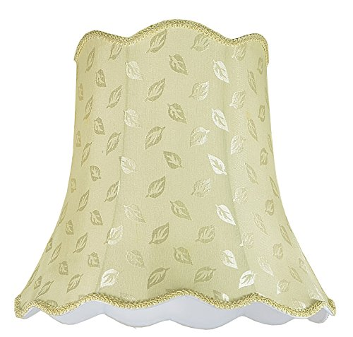 Aspen Creative 34003 Transitional Scallop Bell Shape Spider Construction Lamp Shade in Butter Creme, 16'' wide (10'' x 16'' x 15'')