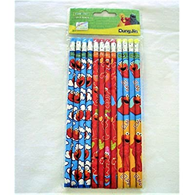 Elmo 12 Wood Pencils Pack: Office Products