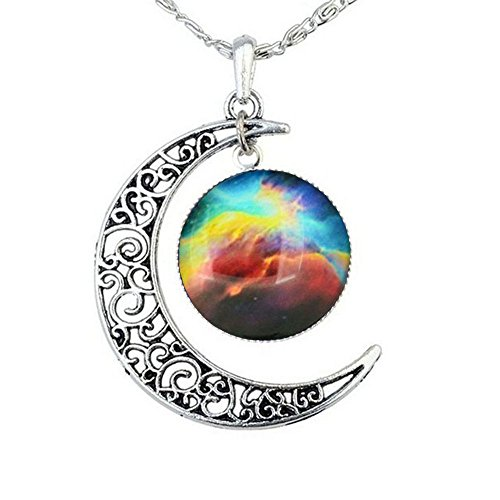 FANSING Galaxy Necklace Mothers Day Gifts Crescent Star Galactic Cosmic Moon Charm Necklaces