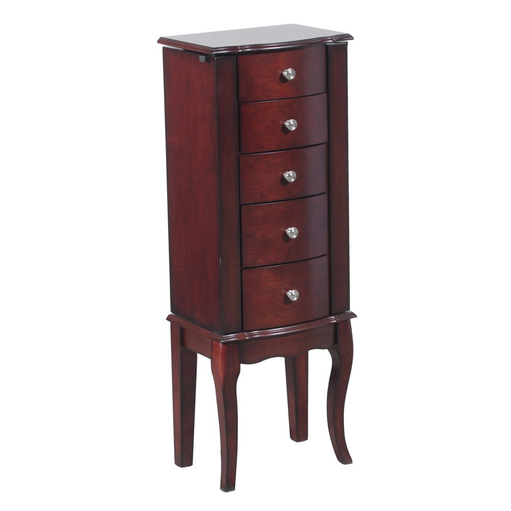 Powell Marlo Jewelry Armoire, Mahogany