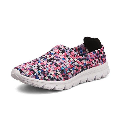 Mujer de Blando Zapatos de Zapatos Tejidos Fondo Antideslizantes de Zapatos Purple de Hasag A2 Madre Deportivos Zapatos Zapatos Verano Zapatos 0qP1Twa1
