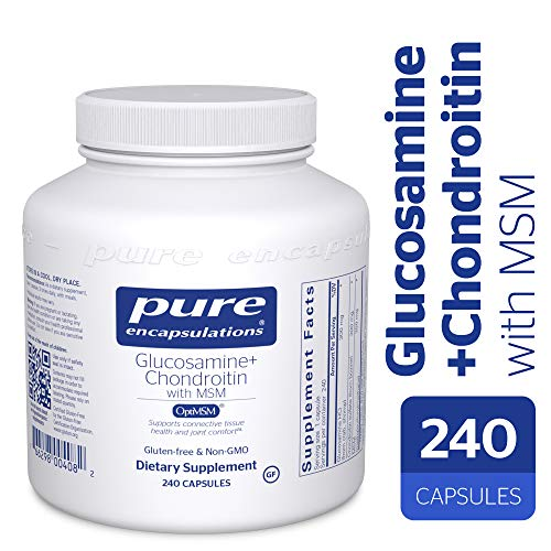 Pure Encapsulations - Glucosamine + Chondroitin with MSM - Healthy Cartilage Strength and Resilience* - 240 Capsules