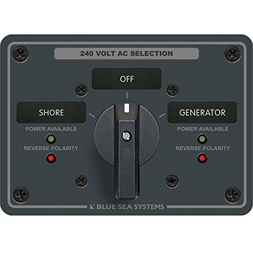 Blue Sea 8363 Marine Switch Panel AC Rotary 3 Pole 65 Amp 2 Positions + OFF Marine RV Boating Accessories