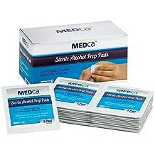 MEDca Alcohol Prep Pads, Sterile, Medium, 2-Ply PACK OF 100