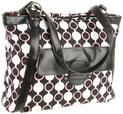 nuo-tech-kailo-chic-casual-tote-pattern-black-white-pink-modern-circles