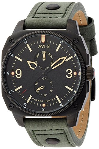 AVI-8 watch Hawker Hunter Black Dial Stainless Steel Case AV-4010-03 Men's [regular imported goods]