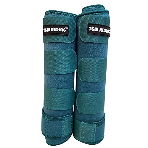 TGW Riding Horse Sports Medicine Boots Horse Leg Wraps (Mint Green, L)