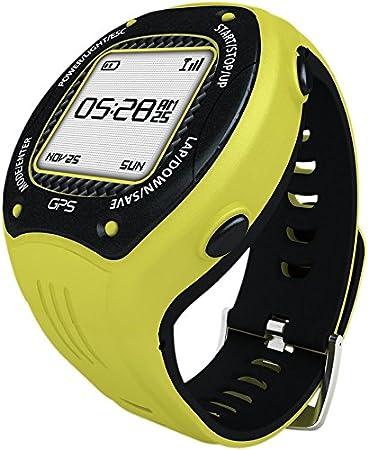 posma W3GPS navegación de ciclismo Running Senderismo Deporte Reloj con Ant +, G-sensor y 6Axis brújula Strava mapmyride/brazalete amarillo