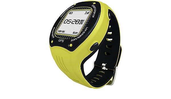 posma W3 GPS navegación de ciclismo Running Senderismo Deporte Reloj con Ant +, G-sensor y 6 Axis brújula Strava mapmyride/brazalete amarillo: Amazon.es: ...